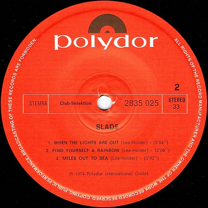 Slade Old, New, Borrowed and Blue EP Holland side 2