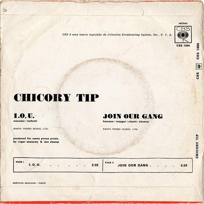 Chicory Tip I.O.U. Portugal back
