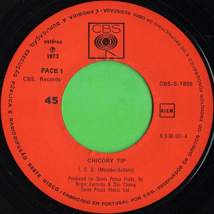 Chicory Tip I.O.U. Portugal side 1