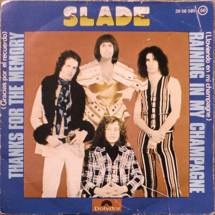 Slade Thanks For The Memory Spain front