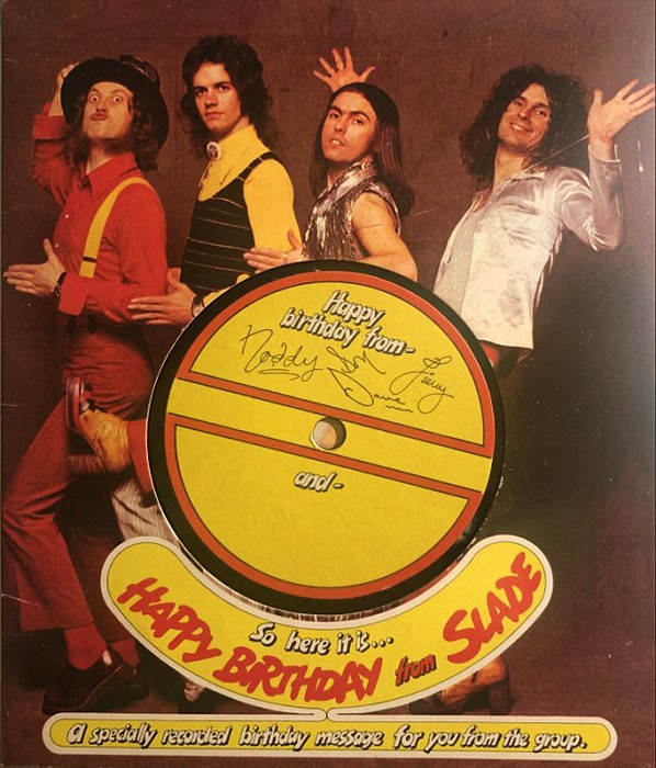Slade Happy Birthday From Slade UK flexi front
