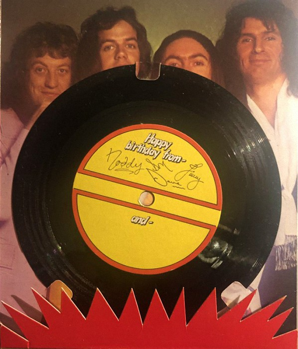 Slade Happy Birthday From Slade UK flexi back
