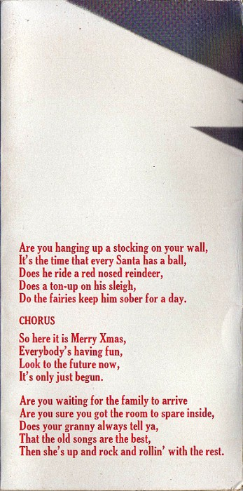 Slade Merry Xmas Everybody UK inside left flap