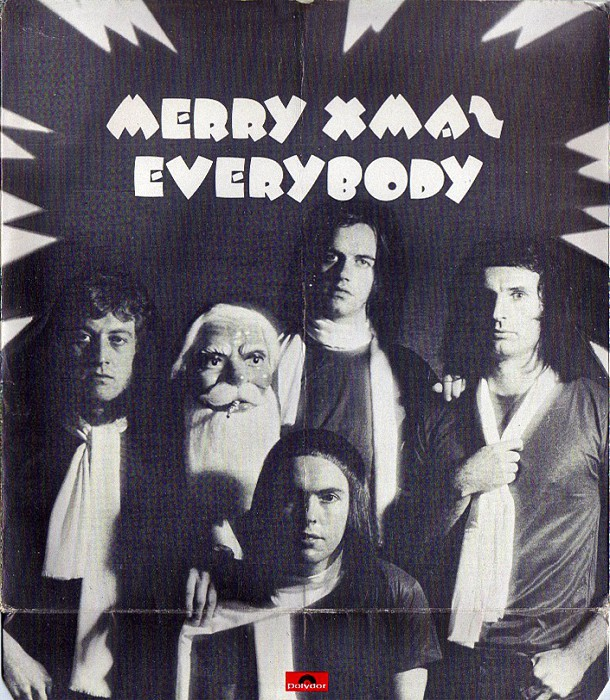 Slade Merry Xmas Everybody UK inside with bottom lip unfolded
