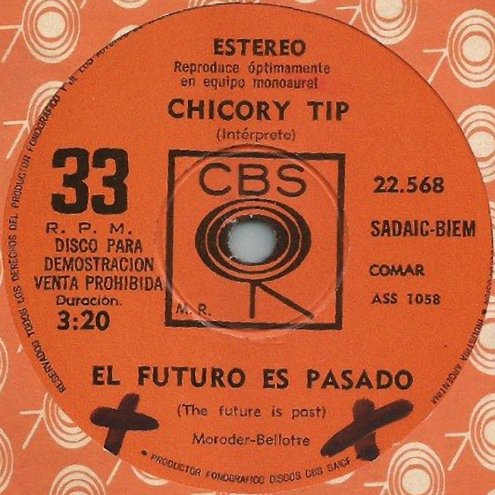 Chicory Tip The Future Is Past Argentina promo side 1