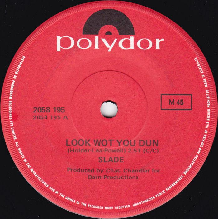 Slade Look Wot You Dun Australia side 1