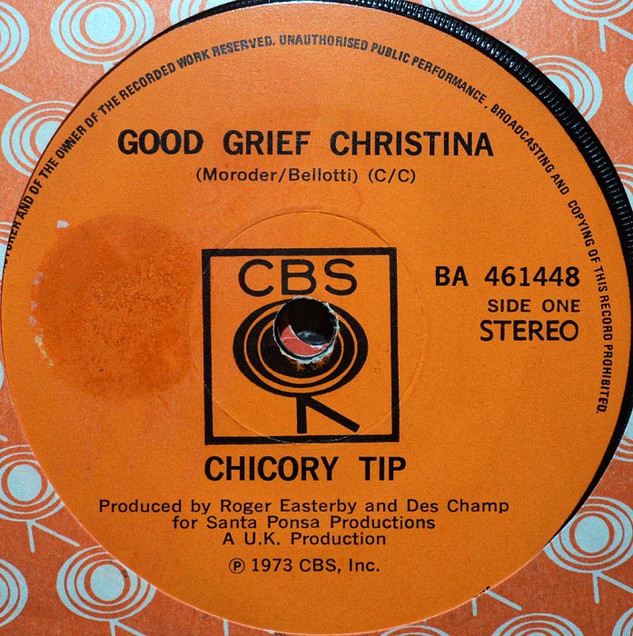 Chicory Tip Good Grief Christina New Zealand side 1