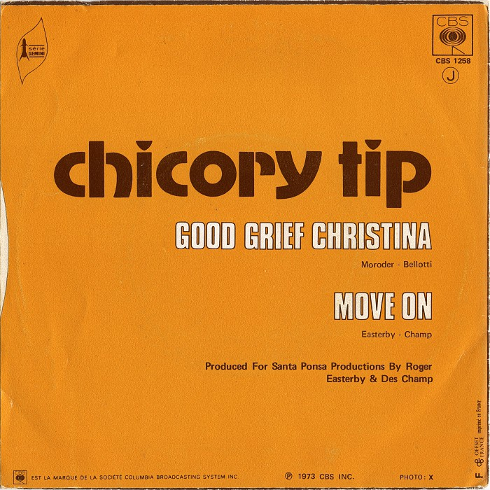 Chicory Tip Good Grief Christina France back