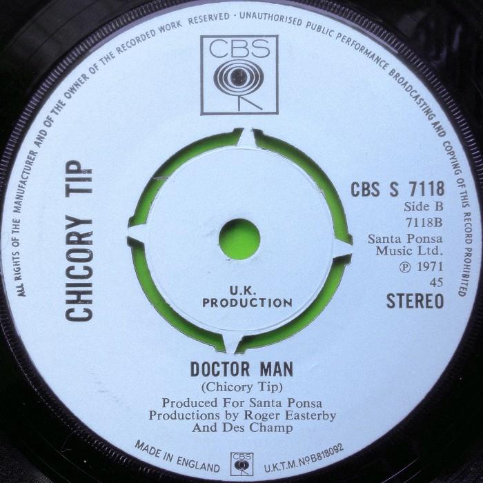 Chicory Tip My Girl Sunday UK promo side 2