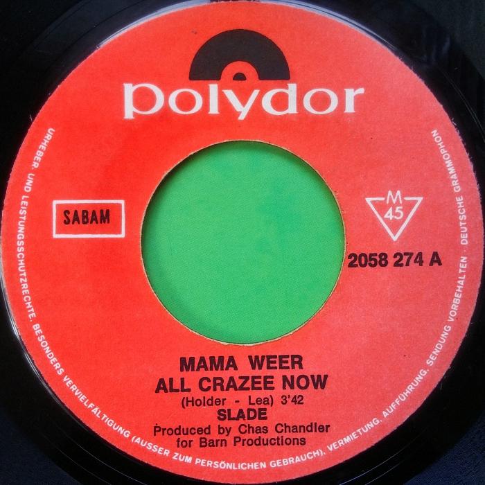 Slade Mama Weer All Crazee Now Belgium side 1