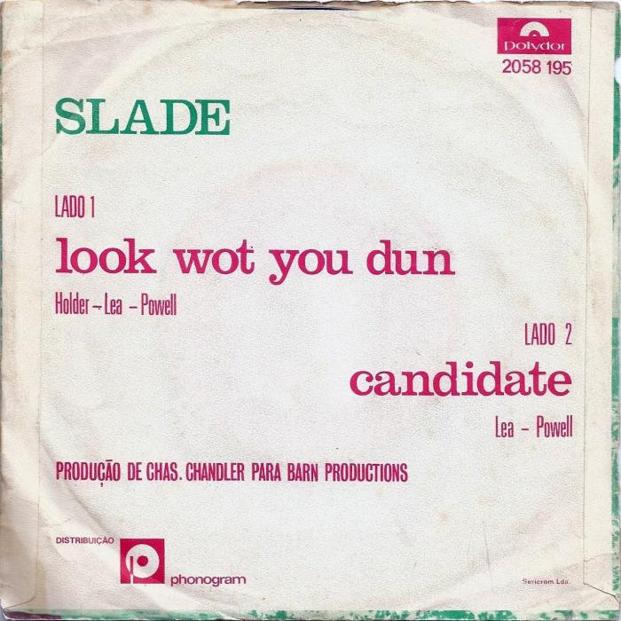 Slade Look Wot You Dun Portugal back