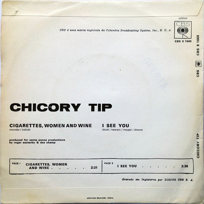 Chicory Tip Cigarettes, Women & Wine Portugal back