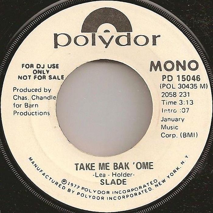Slade Tak Me Bak Ome USA promo side 2