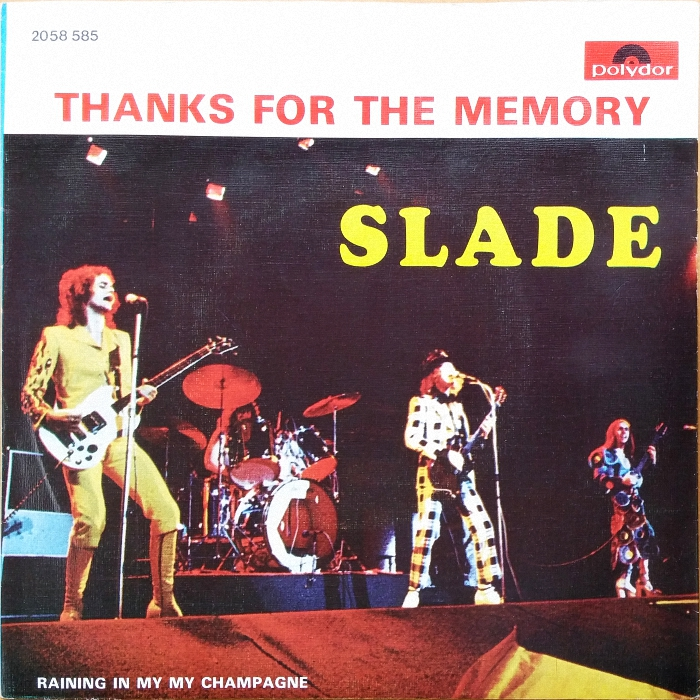 Slade Thanks For The Memory Portugal front