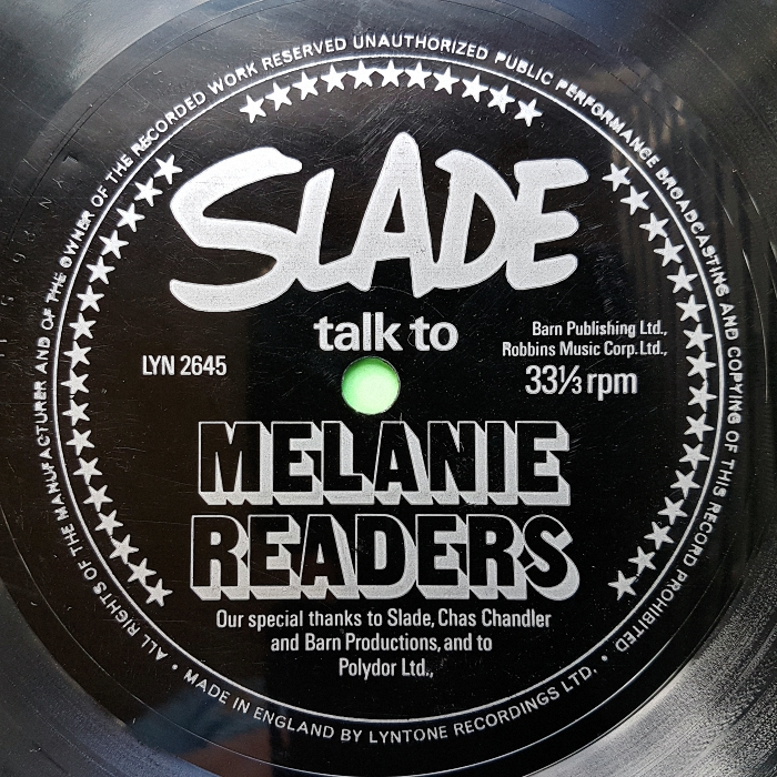 Slade Talk to Melanie Readers