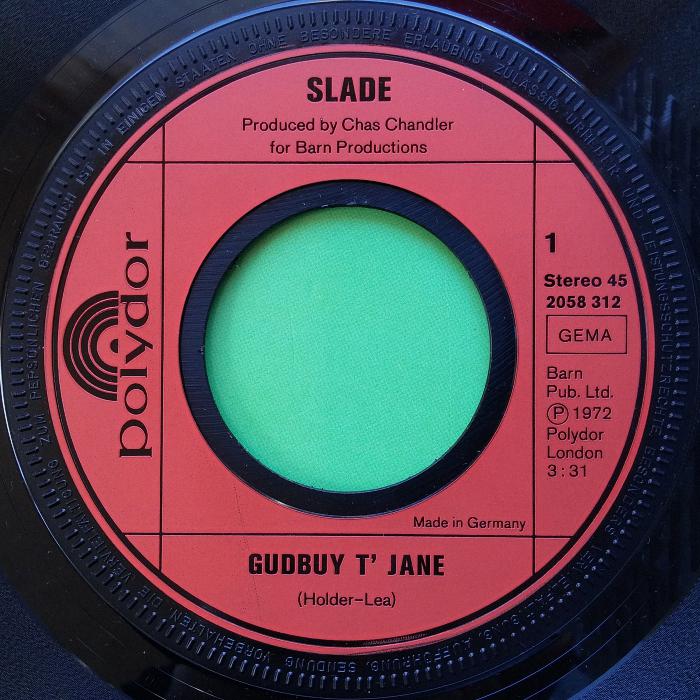 Slade Gudbuy T' Jane Germany side 1