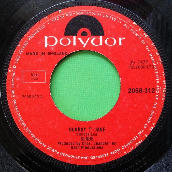Slade Gudbuy T' Jane UK side 1 combo