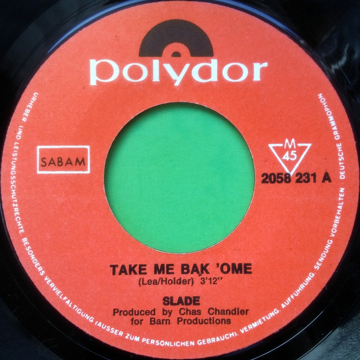 Slade Tak Me Bak Ome Belgium side 1