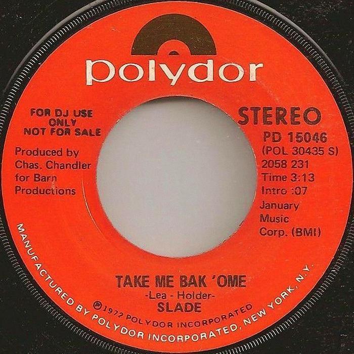Slade Tak Me Bak Ome USA promo side 1