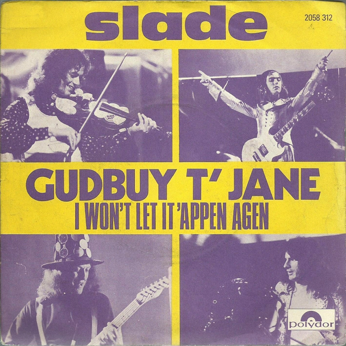 Slade Gudbuy T' Jane France front