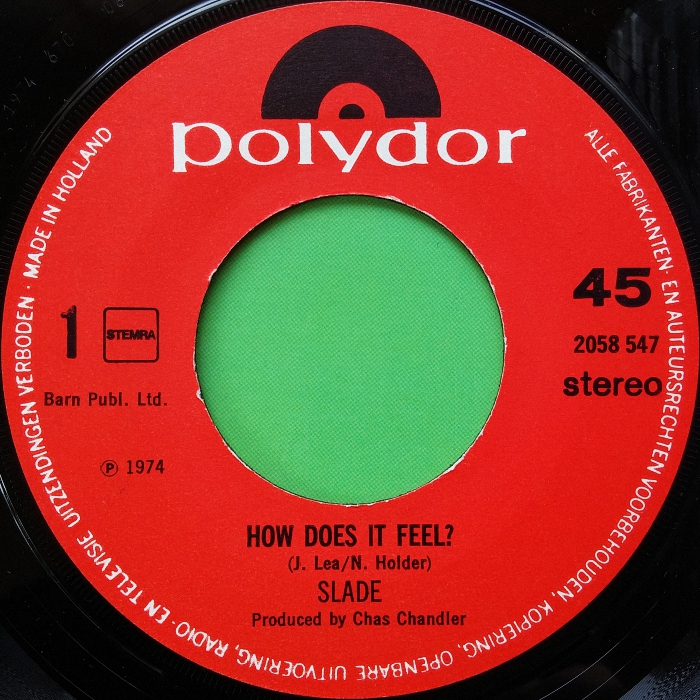 Slade How Does It Feel Holland side 1