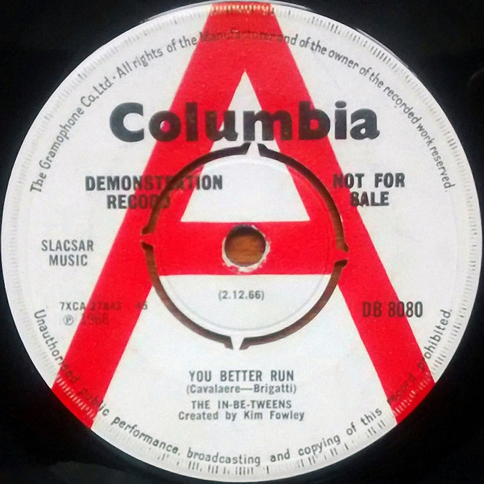 The N Betweens You Better Run UK side 1