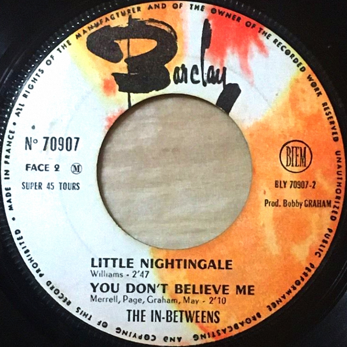 The In-Betweens (Slade) Feel So Fine EP France side 2