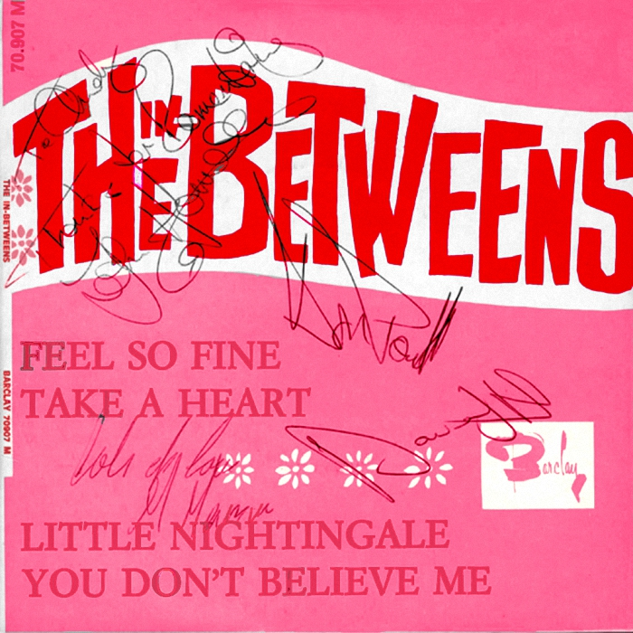 The In-Betweens (Slade) Feel So Fine EP France signed front