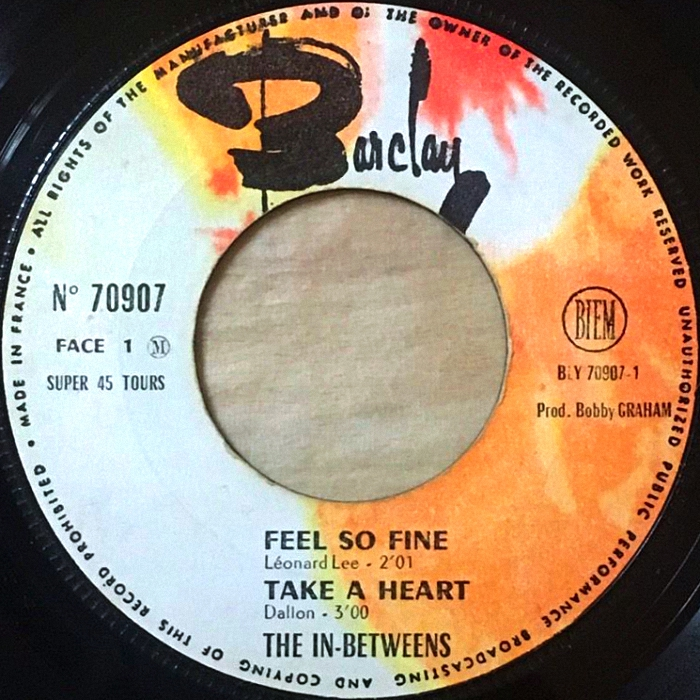 The In-Betweens (Slade) Feel So Fine EP France side 1