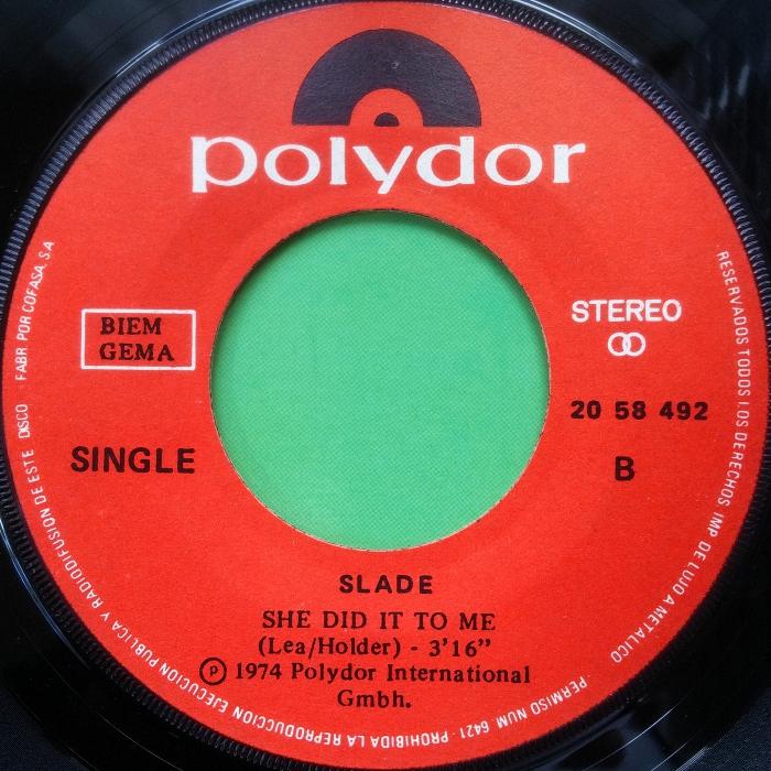 Slade The Bangin Man Spain side 2