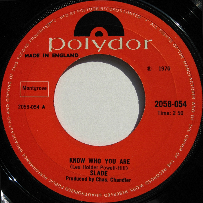 Slade Know Who You Are UK side 1