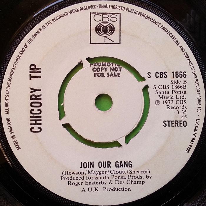 Chicory Tip I.O.U. U.K. promo side 2