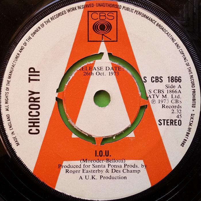 Chicory Tip I.O.U. U.K. promo side 1