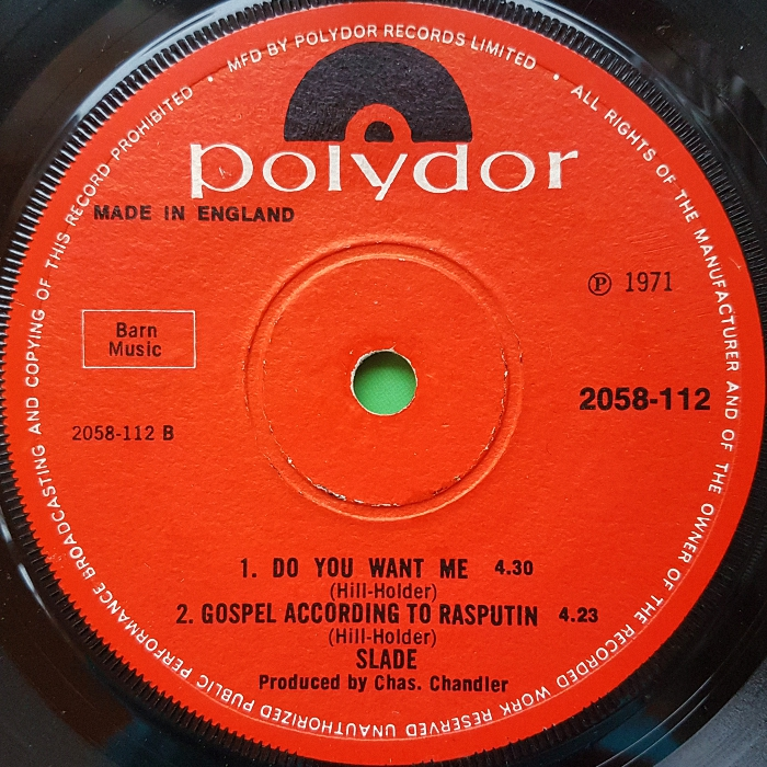 Slade Get Down And Get With It UK side 2