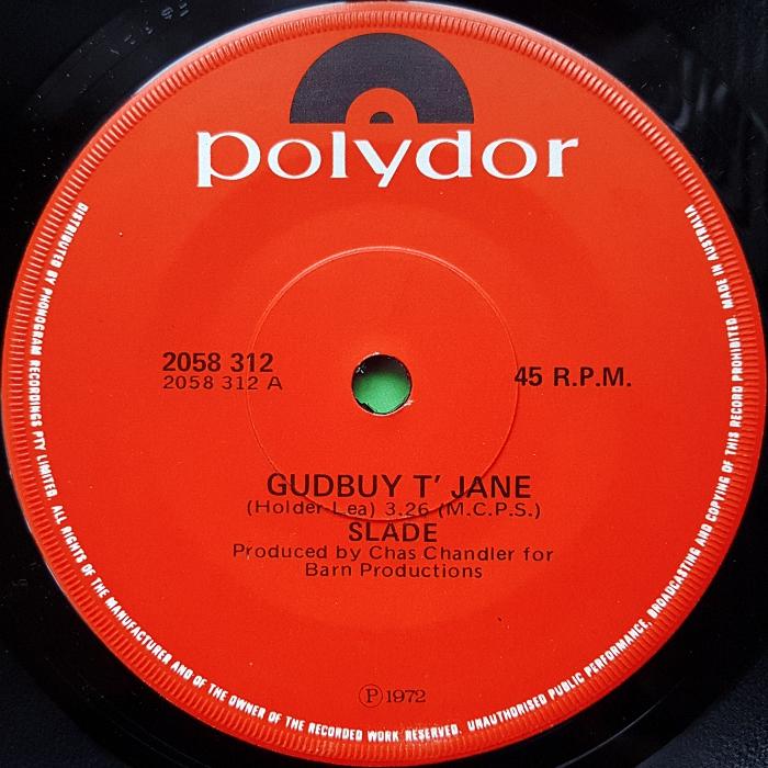 Slade Gudbuy To Jane Australia side 1