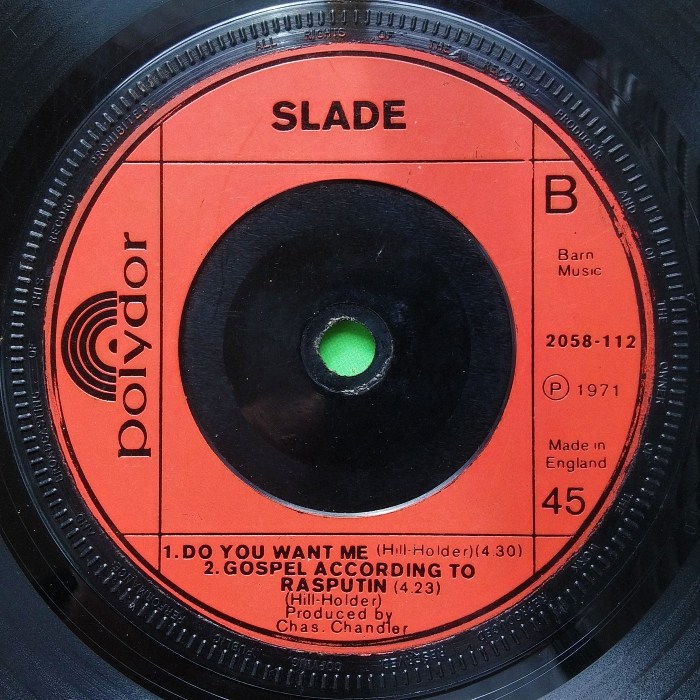 Slade Get Down And Get With It UK 2nd edition side 2