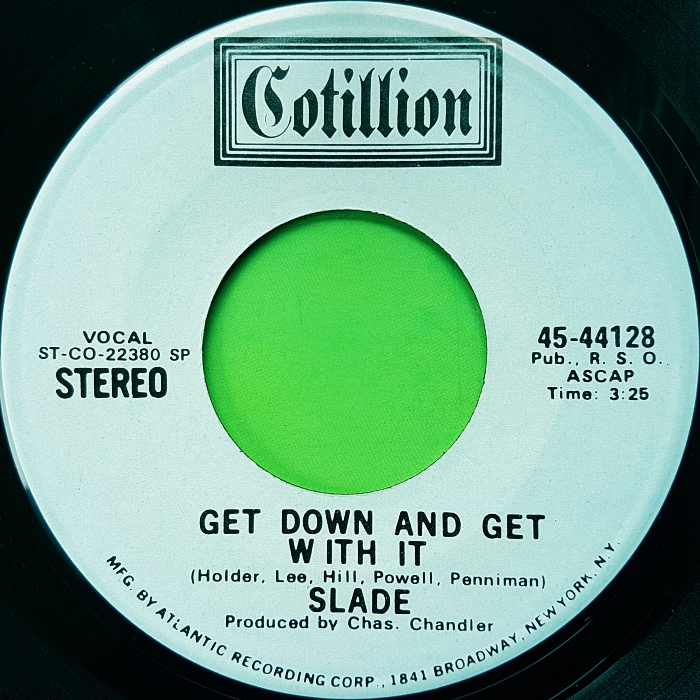 Slade Get Down And Get With It USA promo side 2
