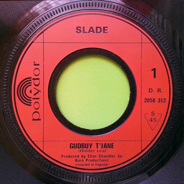 Slade Gudbuy T' Jane France side 1