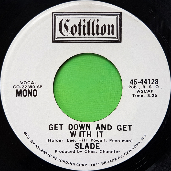 Slade Get Down And Get With It USA promo side 1