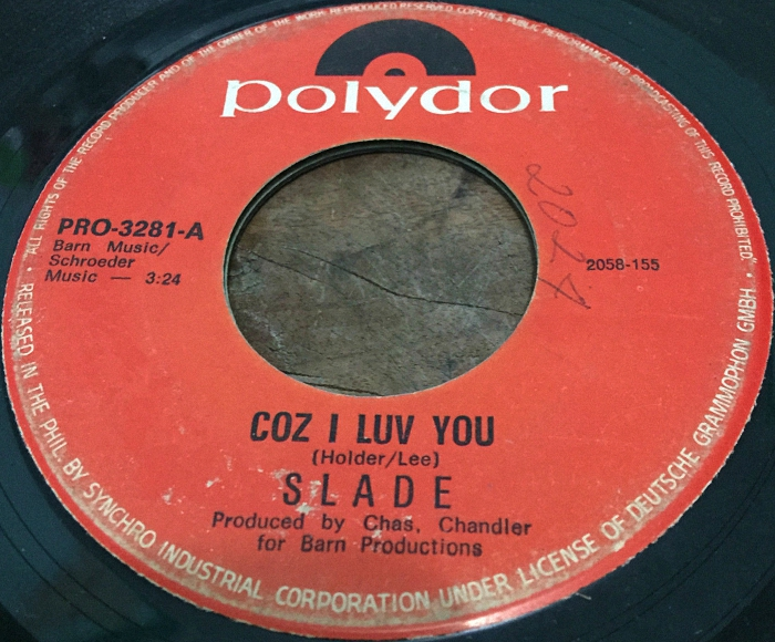 Slade Coz I Love You Philippines side 1