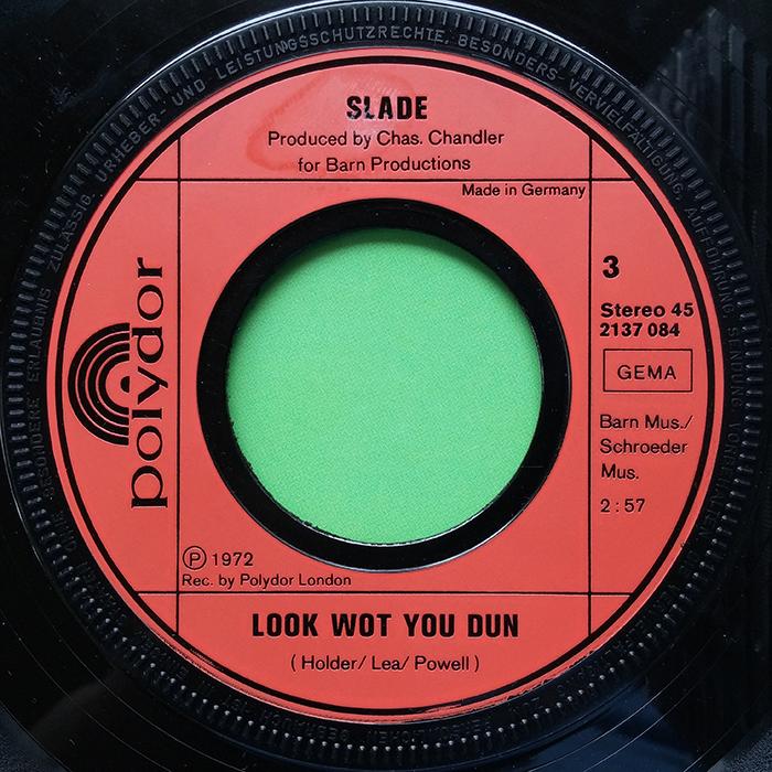 Slade Coz I Luv You EP Germany side 3