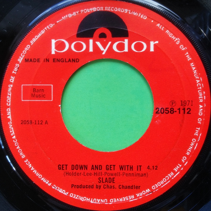 Slade Get Down And Get With It UK side 1