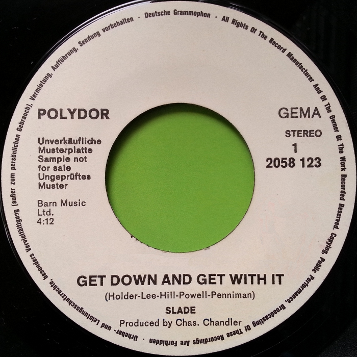 Slade Get Down And Get With It Germany promo side 1