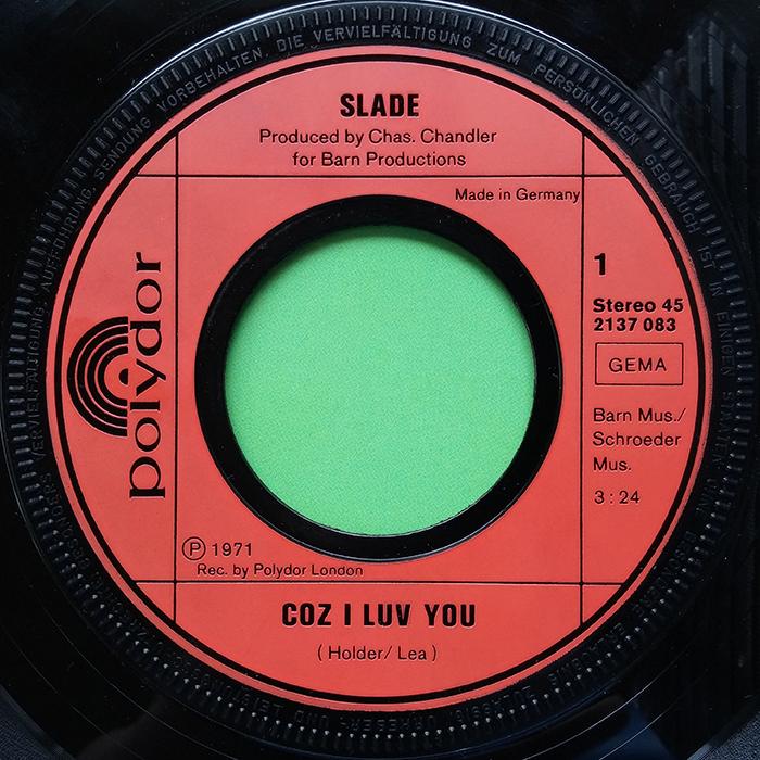 Slade Coz I Luv You EP Germany side 1