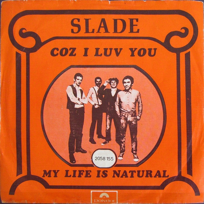 Slade Coz I Love You Portugal front