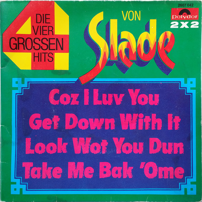 Slade Coz I Luv You EP Germany front