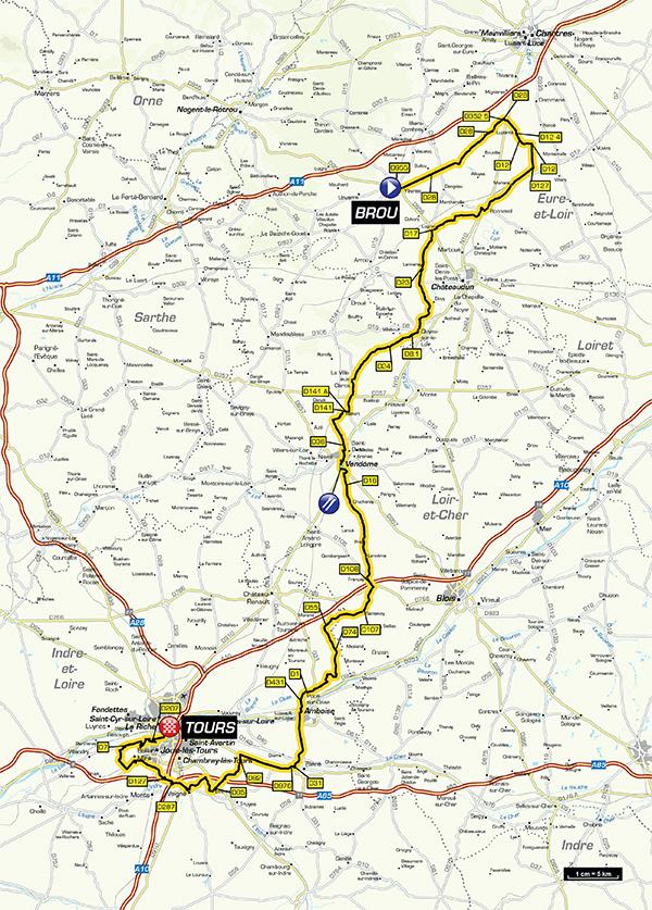 IParis-Tours Route