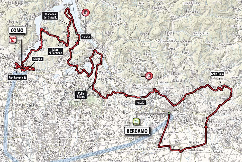 Il Lombarida 2017 Route