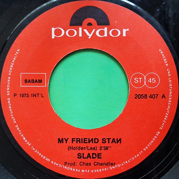 Slade My Friend Stan Belgium side 1